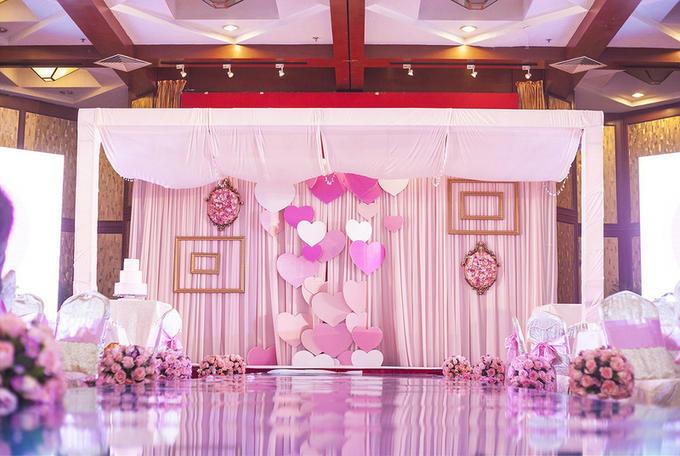 欧式婚礼舞台背景粉色系
