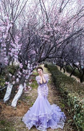 南京婚纱摄影春季唯美婚纱礼服外景婚纱照摄影工作室
