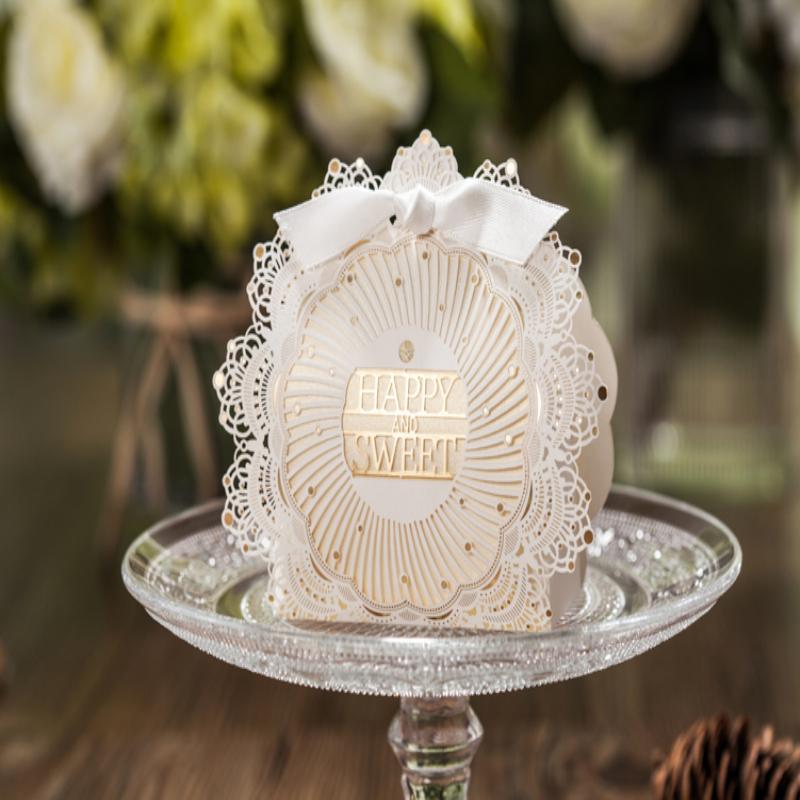 新款创意个性欧式白色高档镂空唯美喜糖盒成品批发