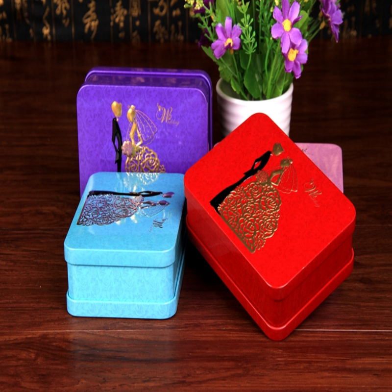 个性创意结婚浪漫新人马口铁盒 婚礼喜庆用品喜糖盒子成品含糖