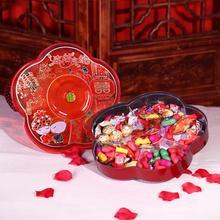 【包邮】喜结良缘糖果盒喜糖盒圆款果盒