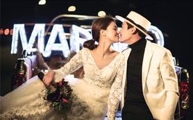 唯我珍爱中式韩式海景夜景婚纱照《花月夜》系列