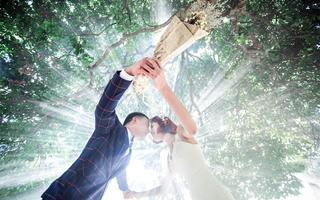 森系婚纱照【我们的婚纱摄影客片】吴先生夫妇