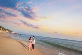 唯美海景婚纱照【我们的婚纱摄影客片】谭先生夫妇