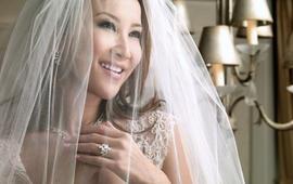 AvrilCouture女神李玟首选气质款婚纱