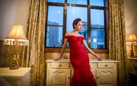 原创设计晚礼服,新娘敬酒服租赁优惠