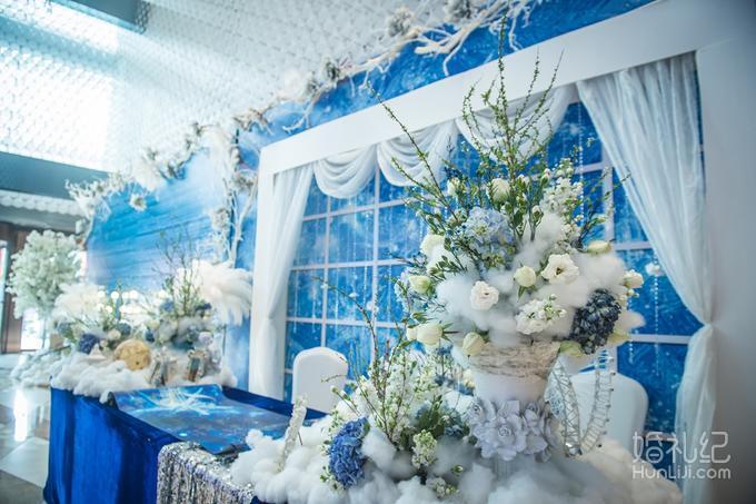 【成都红绣球婚礼】浪漫蓝色系 #云端上的星空