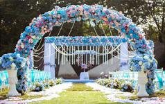【品鉴国际婚礼定制】蓝色唯美户外婚礼