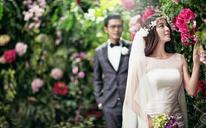 秘密花园之花海韩式婚纱照