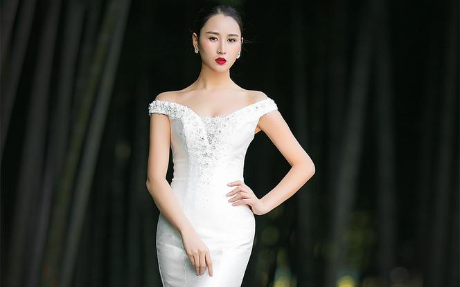 【台湾布蕾丝婚纱】秀台上的超模系列婚纱