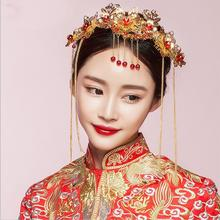 【包邮】新娘头饰中式礼服凤冠额