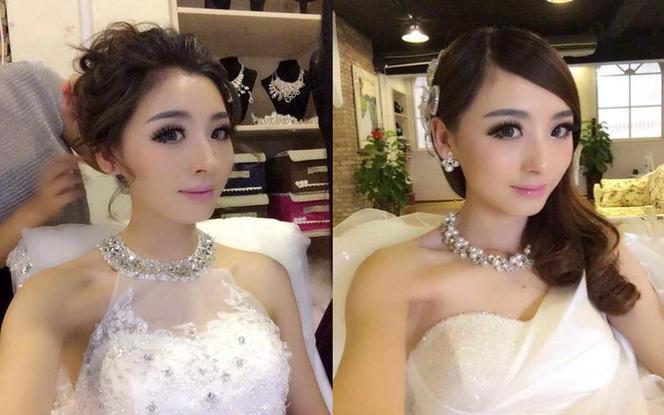 【台湾布蕾丝婚纱】款款惹人爱的婚纱