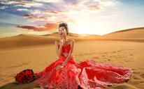 最美沙漠婚纱摄影