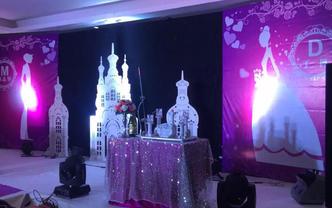 紫色系简约婚礼  西式婚礼
