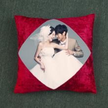 DIY创意印照绒面抱枕