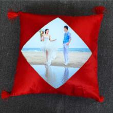 DIY创意滑面带穗抱枕婚庆独特新品