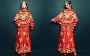 伊莎贝拉|中国风中式出阁服+寓意花开富贵百年好合