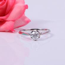 【谛珂珠宝】武汉实体店18k白金40分求婚结婚钻石戒指