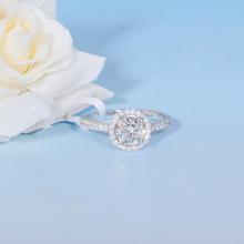 【谛珂珠宝】武汉实体店 白18k金钻戒一克拉结婚女戒钻石戒指