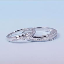 【谛珂珠宝】武汉实体店18k白金情侣对戒 结婚戒指 钻石对戒