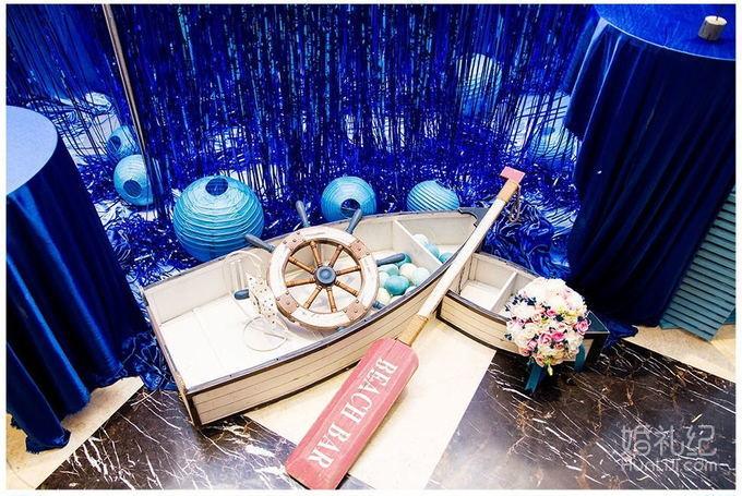 蓝色海洋主题婚礼,婚礼策划公司,婚礼纪 hunliji.com