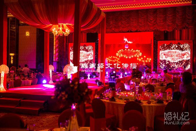 红色欧式,婚礼策划公司