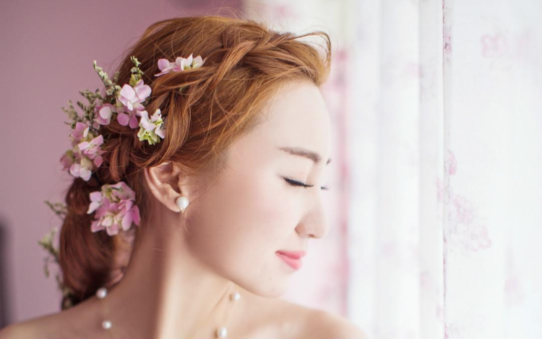 九月造型新娘美妆,婚礼化妆师,婚礼纪 hunliji.com图片