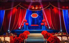【双城纪】蓝与红的撞色宫廷复古主题婚礼