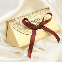【32元包邮】费列罗2粒装喜糖盒 高档小金砖