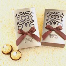 【32元包邮】不含糖成品高档费列罗6粒装金色镂空礼盒