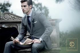 【男士结婚礼服】暗灰格纹马甲套装