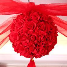 【包邮】纱幔花球套餐送挂钩 婚房布置首选