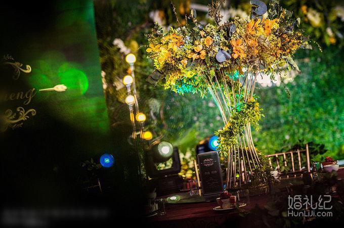 清新森林系婚礼图片