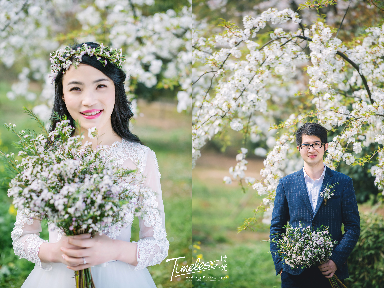 自然清新婚纱照