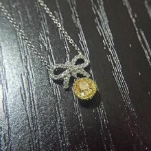 【呓人珠宝】小小黄钻吊坠,适合日常晚宴佩戴
