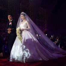 头纱婚纱新款韩式新娘结婚头纱杨颖baby同款头纱超长简约拖尾