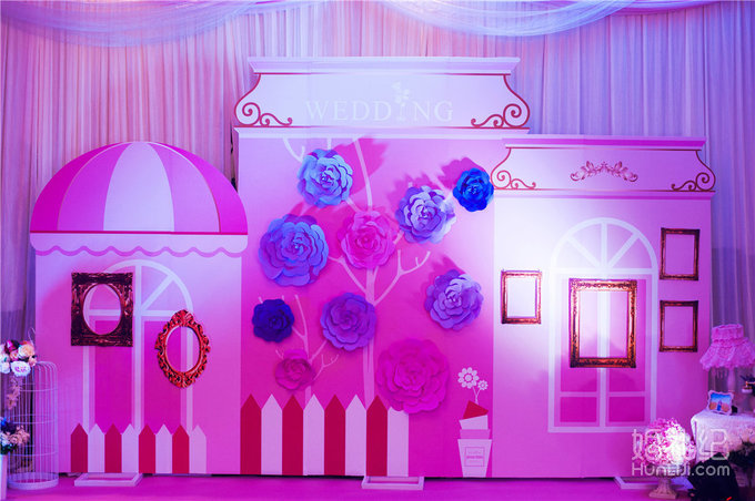 粉紫色婚礼,婚礼策划公司