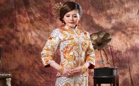 明星婚礼至爱中式礼服龙凤褂褂皇
