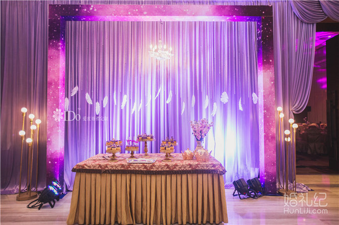 粉紫色主题婚礼