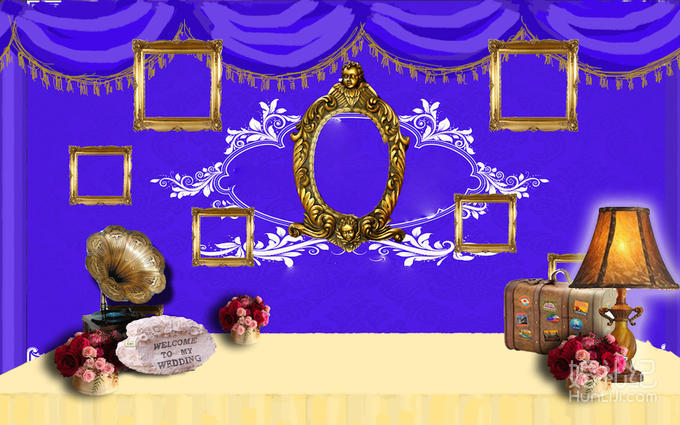 婚礼舞台 流苏 欧式