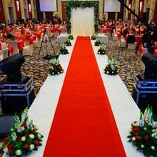 结婚喜庆地毯展览地毯红坪地毯 红色毛毡布T台地毯HDT