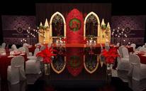 红金复古主题婚礼