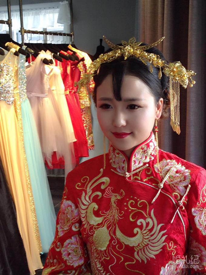潘朵拉资深化妆师中式复古新娘全天跟妆送100元券