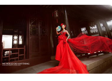 中式婚纱摄影——中国红