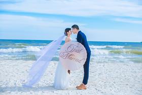 北海银滩婚纱照客片欣赏+轻奢唯美风