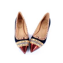 【伊一婚鞋】2016春夏季漆皮红色软皮尖头平底婚鞋姐妹鞋单鞋