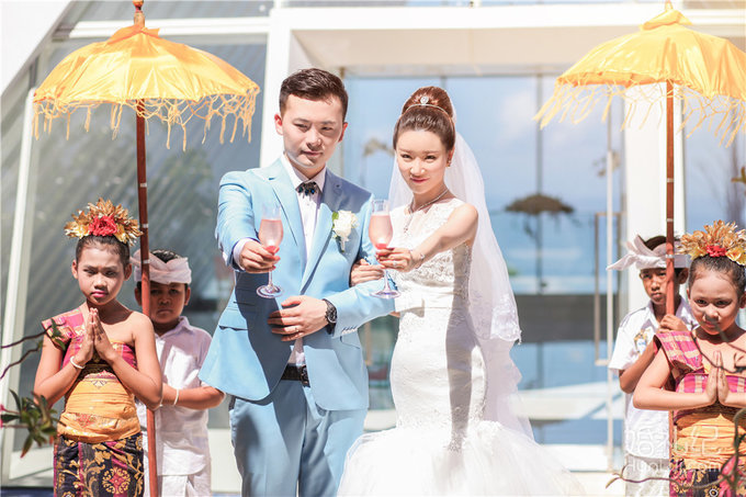 【芊寻海外婚礼】巴厘岛悦榕庄圣白羽教堂婚礼