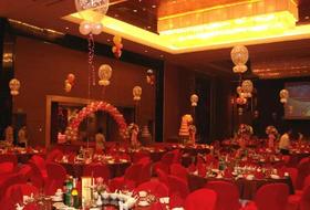 沈阳气球装饰-室内婚礼简约装饰-圣鑫彩球装饰