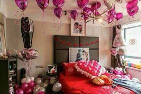 沈阳室内婚礼-婚房宴会婚车气球装饰-圣鑫彩球装饰