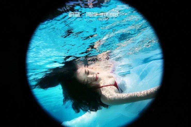 韩式水下唯美婚纱摄影